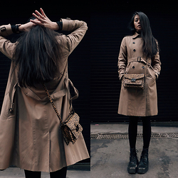 Aliya A - Somemoment Trench Coat, Dr. Martens Boots - From The Dark