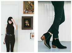 Ashley Ballard - H&M Black Pants, American Apparel Turtleneck Bodycon (Worn As Shirt), Levi's® Leather Belt, Aldo Lillianne Ankle Boots - YOU'RE ALWAYS FLASHING YOUR TEETH