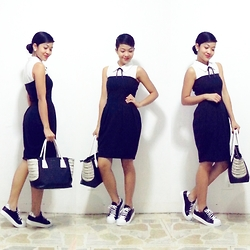 Charlenejoie - Raf Inner Top, Zara Dress, Charles & Keith Bag, Topshop Shoes - Bow.