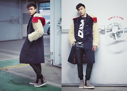 Chris Su - Beyond Closet Coat, Opening Ceremony Sweater, Staccato Shoes - Before Haircut