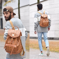 Manij A. - Mcm Backpack, Bershka Sweater, Pull & Bear Cap, Adidas Shoes, Cheap Monday Jeans - TAKE A WALK WITH ME