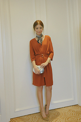 Tricia Gosingtian - Mango Dress, Tod's Bag - 012716