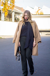 Irina Tschatchina - Zara Coat, Dior Bag - Wide pants