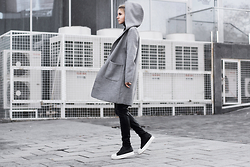 Krist Elle - Sammydress.Com Gray Coat - Grayness