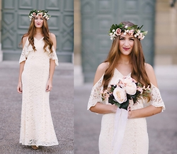 Elif & the RoseMania www.therosemania.com - Zalando Lace Dress - Bohemian Bride