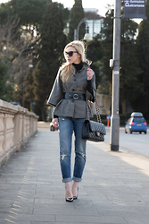 Meagan Brandon -  - Belted Jacket