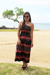 Shahani Lopez - Thrift Shop Traditional Maxi Dress, Parisian Inona Black - Maxi dress