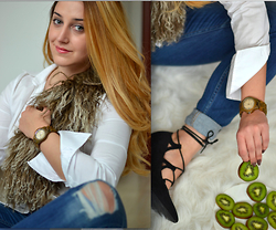 Martina Manolcheva - Zara Jeans, Gucci Shirt, Jord Watch - In Time