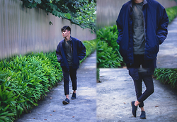 Andre Tan - Topman Suede Shoes, Topman T Shirt - Oversized jacket's a thing now?