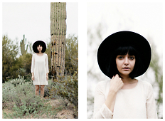 Ashley Ballard - Madewell Dress, Olive & Pique Wide Brim Hat - HONEY DON'T FEED ME I WILL COME BACK