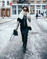 Jessica Wang - The Mighty Company Jacket, Simmi Shoes Boots - NYFW - Winter Wonderland