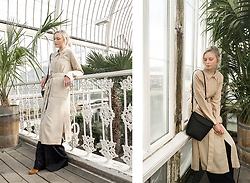 Louise Amelie Whitehouse - Weekday Trench, Set Trousers, Vagabond Suede Boots, Mango Bag - PALM HOUSE