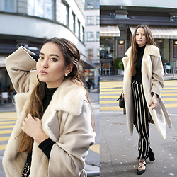 Romina Ch - Max Mara Coat, Sud Express Pants, Zara Shoes - Winter Streetstyle