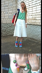 Lexa - Missoni T Shirt, Adidas Sneakers, Puma Backpack, My Hand Made Bead - 64. Green in white