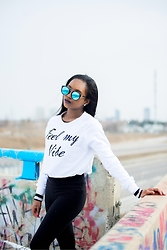 Monet Rhoden - Forever 21 Sweater, Tna Leggings, Firmoo Sunnies - Feel My Vibe