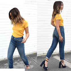 Friend in Fashion * - Levis High Waisted, Senso Platform - 70s VIBES