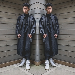 Tommy Lei - Mltv Bomber Jacket, Mltv Long Shirt, Saint Laurent Sneakers, The Sum Necklace - MR. PRIESTLY