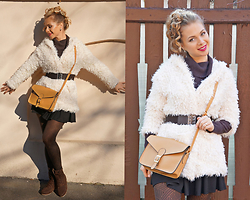 Federova Kik - Milanoo Hooded Coat, Amiclubwear Bag, Milanoo Flat Booties - School girl Outfit