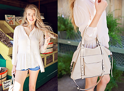 Payton Sartain - Windsor Tunic, H&M Denim Shorts, She + Lo Handbag - Everyday Pastel Tunic