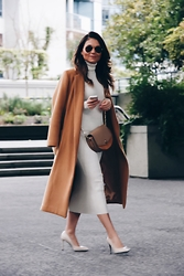Aurela Lacaj - Topshop Coat, Zara Dress, Zara Bag, Zara Shoes - Classic Camel!