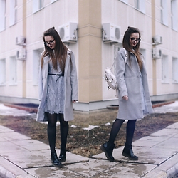 Sasha Shcherbakova - Chicwish Dress - Grey