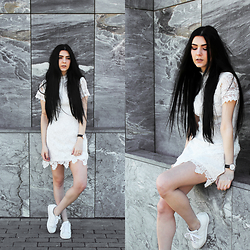 CLAUDIA Holynights - Ax Paris White Lace Dress - White lace