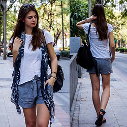 Jacky - Alexander Mcqueen Scarf, Subdued Backpack - Bangkok Streets