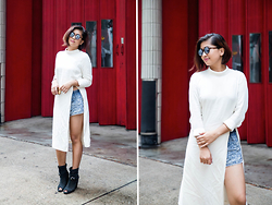 Carla Florendo - H&M Shirt Dress, Forever 21 Shorts, Cotton On Cage Boots, Shanghai Tang Retro Sunglasses - The Mad Man's Shirt