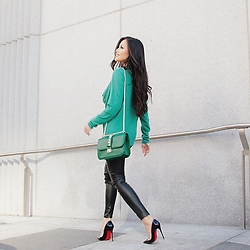 Rachel Vogt - Skunk Funk Sweater, Valentino Bag, H&M Pant, Christian Louboutin Shoes, My Blog - Hello March