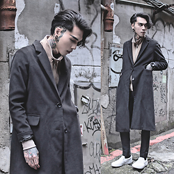 IVAN Chang - Tastemaker 達新美 Overcoat, Tastemaker 達新美 Jacket, Asos Superskinnypants, Vans Shoes - 090316 TODAY STYLE