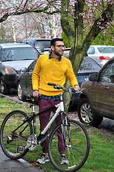 Hector Diaz - H&M Yellow Sweater (Similar), Uniqlo Black And Blue Flannel Plaid, The Rail Burgundy Joggers, Asics Sneakers, Polette Eyewear Glasses - A Brief Look at Spring x Polette Eyewear