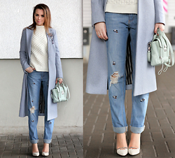 Perventina Ols - Maison Scotch Coat, 3.1 Phillip Lim Bag - В марте