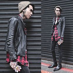IVAN Chang - Vintag Jacket, Vintage Shirt, Asos Superskinnyjeans, Asos Boots, Asos Hat, Candies Iphonecase - 130316 today style