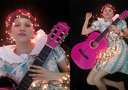 Magical Jillian - Michael Pink Acoustic Guitar, Offbrand Lolita Dress - I wish I was on yonder hill