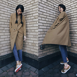 Aliya A - Somemoment Coat, Adidas Shoes - ∠90°