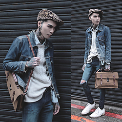 IVAN Chang - Levi's® Big E Vintage Jacket, Topman Sweater, Asos Super Skinny Jeans, Mcving Bag - 160316 TODDAY STYLE