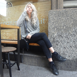 Cindy Karmoko - Adidas Tubular Sneakers, Zara Pants, Forever 21 Sweater - Seriously Chill