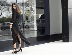 AR Zantkeren - Sheinside Shein Dress, Zara Heels - Black Dress For The Weekend