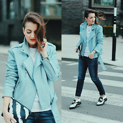 Andreea P - Gestuz Jacket, Ag Jeans, Missguided Shoes - Windswept