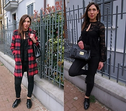 Ago Prime - Choies Tartan Coat, Asos Lace Shirt - Tartan coat and lace shirt!