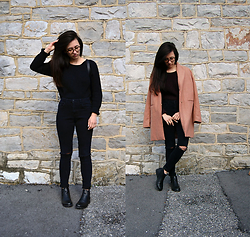 Sheila - Newchic Camel Coat, Sammydress Black Cropped Sweater, Boohoo Black Ankle Boots - Not Quite Spring
