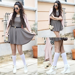 Marina Mavromati - Choies Dress, H&M Bag Charm, Newdress Bag, Cndirect Sunglasses - Girly Girls Are Forever!