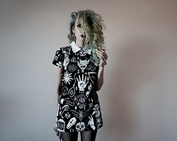 Jadethelibra - Killstar Dress - Curly Sue