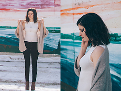 Nicole Buhler - Garage Clothing Top, Talula Cardigan, American Eagle Outfitters Necklace, Garage Clothing Jeans, Town Shoes - Leave A Trace