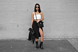 Karla P - Tobi So Caught Up Pencil Skirt, Boohoo Ankle Boots - O.S.L
