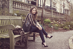 Vicky DISCOMETOOBLIVION - Swell Reversible Jacket, Sacha Black Suede Pumps - Fabulously Freezing