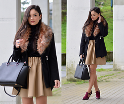 Alba . - Choies Coat, Menbur Shoes - Black Coat