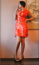 Jane V.I. - Qipao Dress, Heel Sandals - One more Chinese style dress