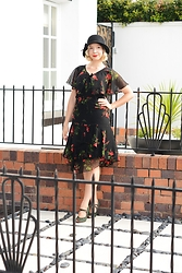 Harlow Darling - Hell Bunny Dress, Bait Footwear Shoes, Ebay Hat - Autumn Art Deco