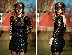 Sofia Holmberg - Bik Bok Sequin Dress, Tgr Masque - Our love was just a masquerade